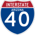 Interstate 40 marker