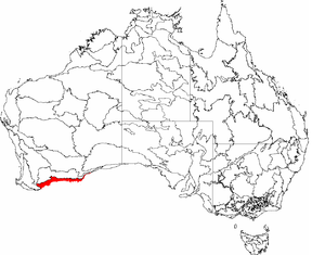 Esperance Plains - The IBRA regions, with Esperance Plains in red