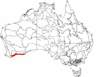 Esperance Plains - The IBRA regions, with Esperance Plains in red
