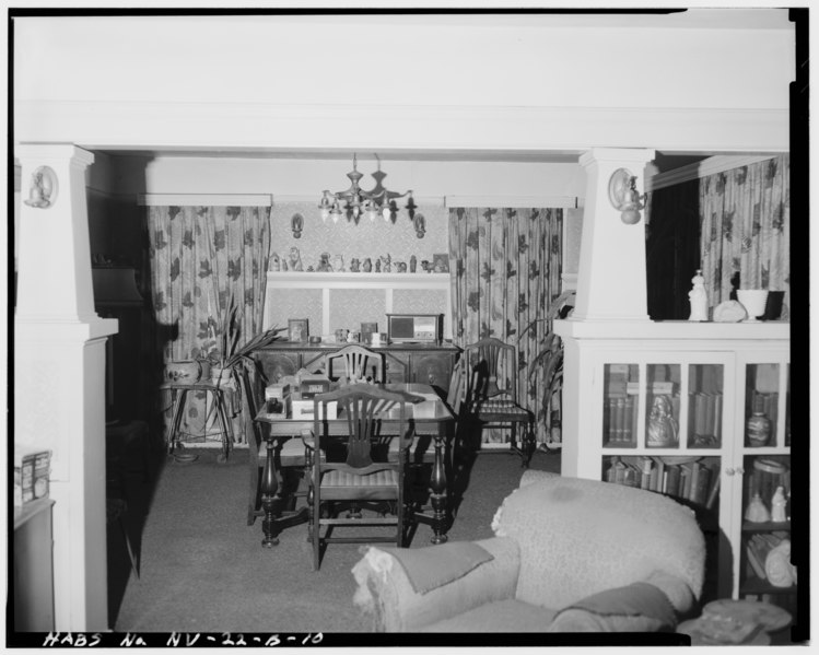 File interior view of ferretto house dining room facing for Dining room d house of commons
