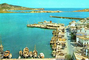 Ibiza - Port of Ibiza in 1965