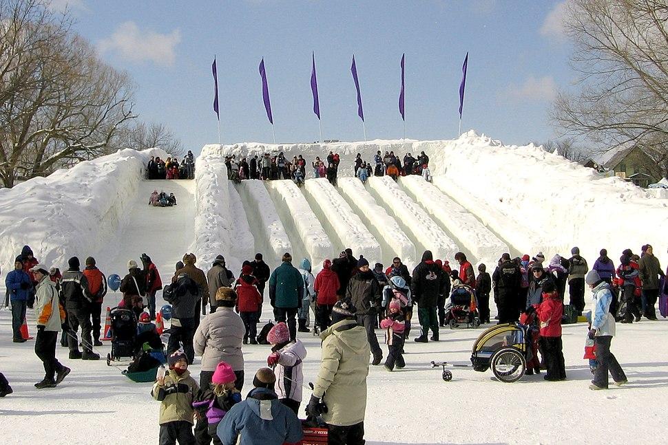 Ice slide Winterlude Ottawa 2007