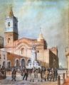 Iglesia de Santo Domingo. procesión de Nuestra Señora del Rosario (1830).png