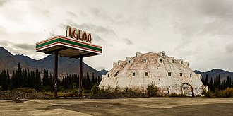 Cantwell, Alaska - Abandoned Igloo City hotel in Cantwell.