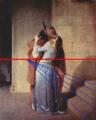 Il bacio - Francesco Hayez - linee prospettiche.png