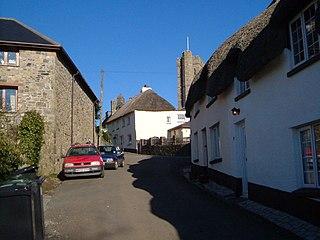 Ilsington village in the United Kingdom