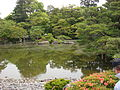 Imperial Palace in Kyoto - pond the in garden of emperor library 3.JPG