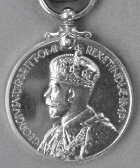Imperial Service Medal, obverse George V, post 1935
