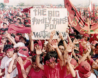 Indonesian Democratic Party - Indonesian Democratic Party rally in Jakarta, 7 May 1997.