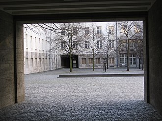 Ministry of the Reichswehr - Entrance to the Bendlerblock.