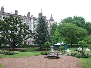 Temple, London - Part of the Inner Temple Garden and buildings