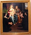 Innocenzo da imola, madonna col bambino, ss. elisabetta, giovannino e i committenti, 1523-25, da s. caterina del corpus domini.jpg