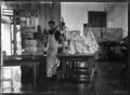 Inside a butter factory at Waitoa, near Te Aroha, 1921 ATLIB 312062.png