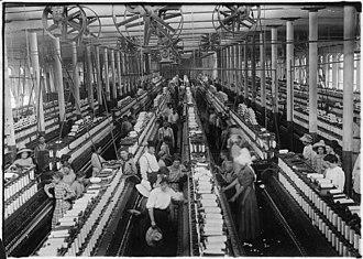 Michael Davitt - Interior of a nineteenth-century cotton mill