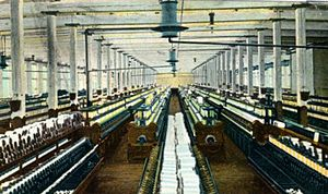 Cone Mills Corporation - Interior of a North Carolina cotton mill, ca. 1909
