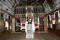 Interiorul bisericii de lemn Adormirea Maicii Domnului, al fostei manastirii Izvorul Negru - Moisei.jpg