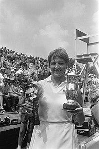 Internationaal tennistoernooi in Hilversum ( t Melkhuisje winnares Margaret Cour, Bestanddeelnr 923-7226.jpg