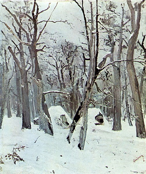 Fișier:Ion Andreescu - Woods in Winter.jpg