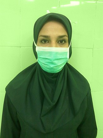 Surgical technologist - Image: Iranian surgical technologist with hijab 03