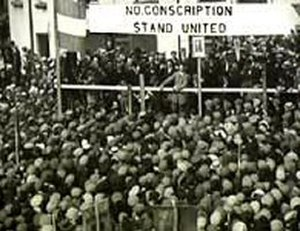 Conscription Crisis of 1918 - Dillon on platform during Roscommon anti-conscription rally in 1918