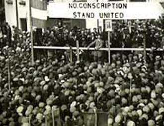 Conscription Crisis of 1918 - Dillon on platform during Roscommon anti-conscription rally in 1918