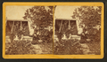 Isaac A. Pool's greenhouse, Escanaba, Mich., Aug. ... 1888, Mr. Pool & his daughters Dot and Madge, by Wolcott, U. E..png