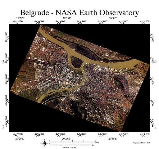 Iss034e061717 Belgrade georeferenced image acquisition March 5 2013
