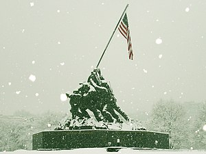 The Ballad of Ira Hayes - Hayes was depicted on the Iwo Jima Memorial as one of 6 men raising the American flag on Iwo Jima