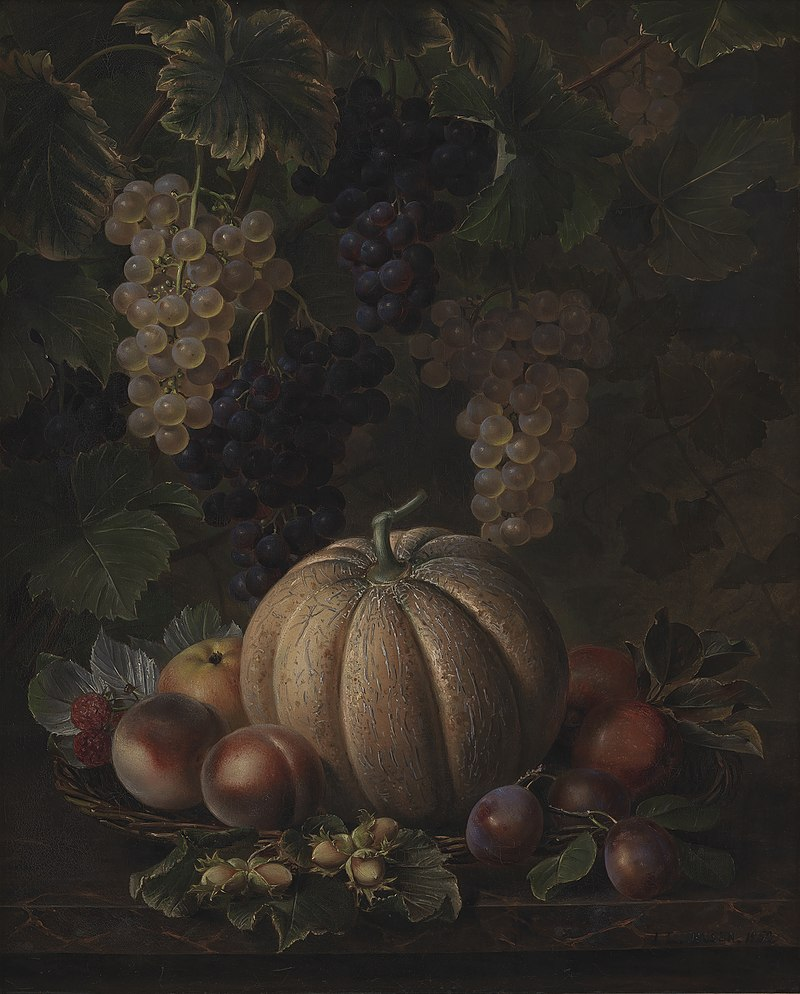 J.L. Jensen - Various Fruits, including Melon and Grapes - KMS1062 - Statens Museum for Kunst.jpg