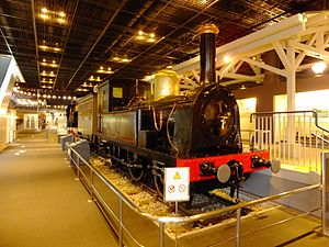 JGR Class 150 - Image: JGR class 150 steam locomotive at the Railway Museum