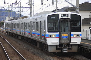 JR Shikoku 6000 series - 6000 series on a Sunport rapid service, September 2011
