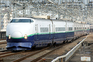 200 Series Shinkansen - Refurbished 200 series trainset, July 2008