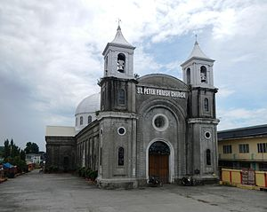 San Pedro Apostol Church (Apalit) - Facade of the San Pedro Apostol Church in Pampanga