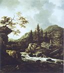 Jacob van Ruisdael - A wooded mountain torrent.jpg