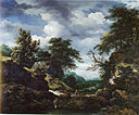 Jacob van Ruisdael - Hilly Wooded Landscape with Castle.jpg