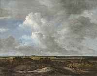 Jacob van Ruisdael - Vista de tierra adentro desde las dunas costeras c. 1670.jpg