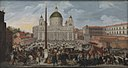 Jacob van Swanenburgh - A Papal Procession on the Piazza San Pietro in Rome.jpg
