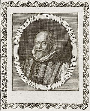 Arminianism - Portrait of Jacobus Arminius, from Kupferstich aus Theatrum Europaeum by Matthaeus Merian in 1662