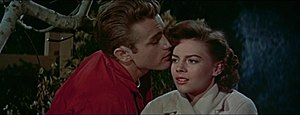 Cropped screenshot of James Dean and Natalie W...
