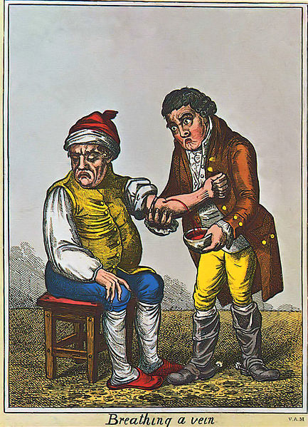 Datei:James Gillray - Der Aderlass (um 1805) London.jpg