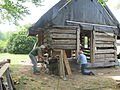 James H. Webb Cabin, under restoration (21611743971).jpg