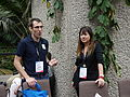 James Heilman and Lori on the conservatory terrace at Wikimania 2014 02.jpg