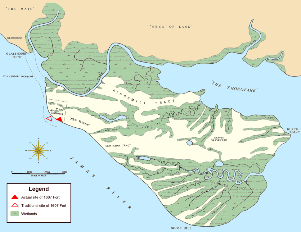 Jamestown Island (1958 base map)