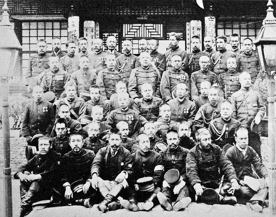 Japanese soldiers of the Sino Japanese War 1895