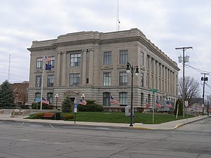 Portland, Indiana - Jay County Courthouse
