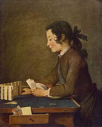 1734 in art - Chardin, The House of Cards