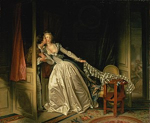 Romance (love) - The Stolen Kiss by Jean-Honoré Fragonard (1786)