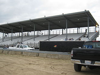 Jefferson County, Wisconsin - Grandstands at the county fairgrounds in Jefferson