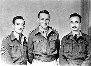 Jewish Parachutists of Mandate Palestine - Jewish Parachutists of Mandate Palestine in Italy, October 1944. From left to right - Zadok Doron, Aba Berdichev and Chaim Ya'ari