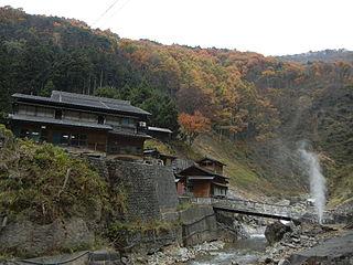 Jigokudani Monkey Park Hot springs area with large population of wild snow monkeys
